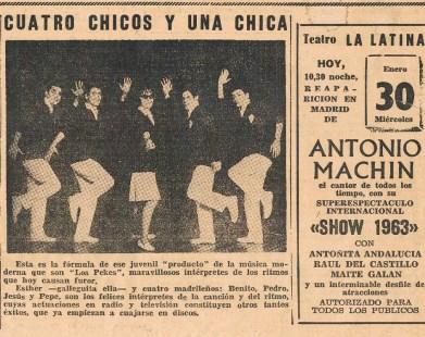 P1 Noticia del diario PUEBLO 1963